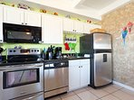 The kitchen is fully equipped with everything you need to prepare delicious meals.