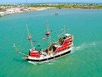 Sail aboard the pirate ship The Black Dragon, if ye dare!