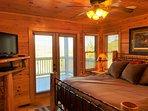 A Change In Altitude - main floor bedroom (King bed + TV/DVD)