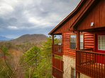 Great views from both balconies at this cabin!