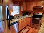 Kitchen well equipped with everything you need to prepare those meals while staying in for a night.