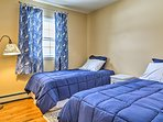 Perfect for kids, this room boasts 2 twin beds.