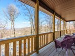 Views From Main Level Rear Deck, looking in the direction of the Slopes on Ski Beech, only a few hundred yards away!