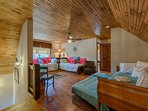 Upstairs Loft with 4 Twin Beds