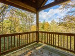 Covered Deck with Wooded View
