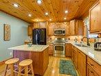 Kitchen with Island, Granite Countertops