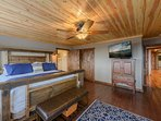 King Master Suite with HDTV, Hardwood Floors, Tongue & Groove Ceilings