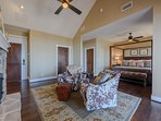 Genuine Cowhide Chairs in Master Suite Sitting Area