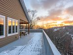 Enjoy Sunrises from the Open-Air Deck
