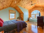 Upstairs second Queen Bedroom with Twin Day Bed and Twin Trundle Bed