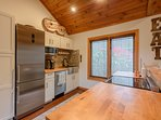 Stainless Appliances & Butcher Block Countertops
