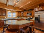Kitchen with Built-In Island