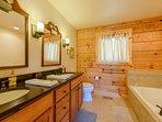 Master Bathroom with Double Granite Vanity