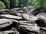 Trailhead Cabin Hebron Rock Colony Hike, Climb and Swimming Holes
