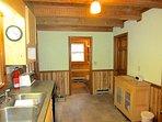 Trailhead Cabin Kitchen