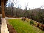 Trailhead Cabin Covered Porch View
