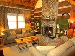 Trailhead Cabin Living Room