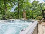 Hot Tub in private wooded setting at Stone`s Throw