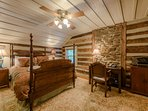 One of two upstairs bedrooms at Stone`s Throw