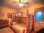 Pinecone Manor Bunk Bedroom with Twin over Full and addtl Twin Bed