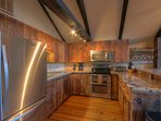 Majestic Mountain Haus newly-updated Kitchen with Quartz countertops and Stainless appliances