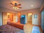 Pinecone Manor Main Floor Master with Flat Panel TV, Walk-in Closet