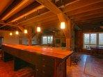Majestic Mountain Haus Twelve-foot African Mahogany Shuffleboard Table