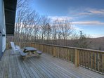 Majestic Mountain Haus main level view-side Deck with outdoor dining and Gas Grill