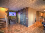 Pinecone Manor Game Room with Huge Flat Panel Smart TV, Blu Ray Player, lots more