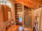 Johnsons Lodge Hallway Bath, Upper Level, Original Cabin Wing