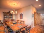 Pinecone Manor Large Dining Table, can seat 10 ppl
