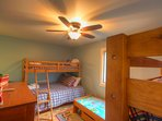 Majestic Mountain Haus Bunk Room with 2 Full over Twin Bunkbeds