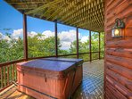 Mountain Top Lodge Hot Tub on Lower Level