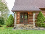 Square Log Exterior and Stone Accents are only some of the Character and Charm at Valle View