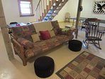 Laurel Chase Large Queen Futon in Game Room Sleeps 2 and has TV with Dish Network