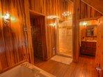 Oversized Walk-In Tile Shower in Master Bath