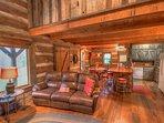 Living Room on Lower Level, Original Cabin Wing
