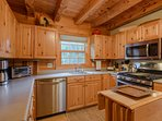 Kitchen with Stainless Steel Appliances and a Gas Cooktop
