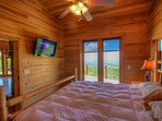 Mountain Top Lodge Master Suite with View Windows