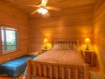 Mountain Top Lodge Lower level bedroom with twin.