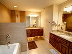 Heavenly Manor Master Bath with Separate Tub and Shower, Twin Vanities