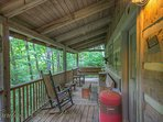 Martins Nest Main Floor Rear Deck with Charcoal and Electric Grills