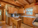 Expandable Island in Kitchen for Extra Dining and Prep Space
