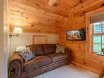 Upstairs Bedroom Suite has Nook with Queen Sleeper Sofa and HDTV