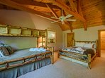 Spacious Upstairs Bedroom Queen bed, and twin over queen bunks