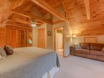 Upstairs King Loft Bedroom Suite with Private Full Bathroom