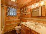 Hall Bathroom on Main Level with Shower