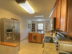 Haynes Heaven Granite counters, steel sink and appliances for a great cooking experience.