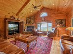 Fox Crossing Living Area with Gas Log Fireplace, View, TV