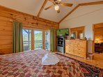 Master Suite with private deck, large bathroom